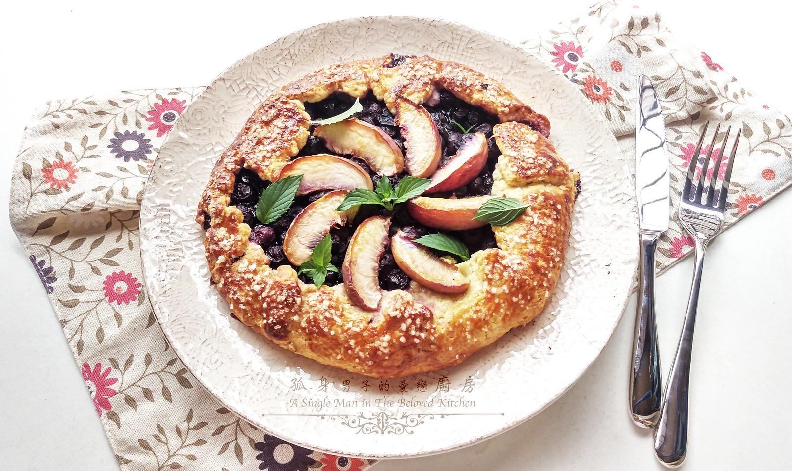 孤身廚房-藍莓甜桃法式烘餅Blueberry-Nectarin Galette32