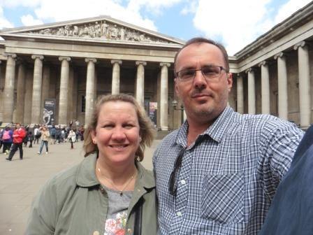 Middle Aged Mama & Papa at the British Museum