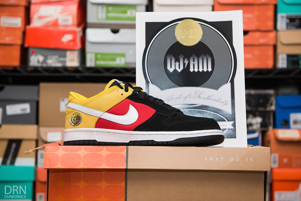 DJ AM's Personal Pair Germany Dunk Low.