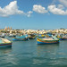 colorful fishing boats in the bay of Marsaxlokk