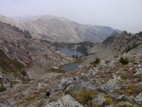 lake landscape smoke