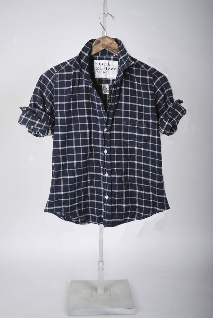 The Barry Shirt - Navy with White Windowpane