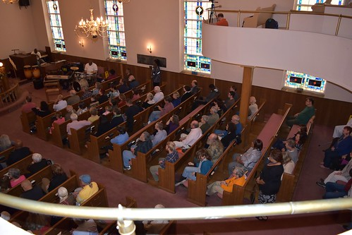 Crowd at St. James AME Church