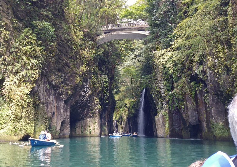 In we go! Takachiho Gorge
