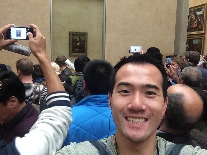 As close as I cared to get to Mona Lisa.