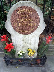 Photo of Yvonne Fletcher red plaque