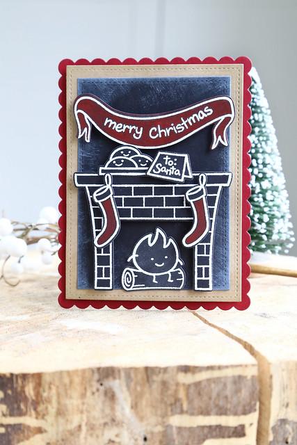 chalkboard christmas {lawn fawn}