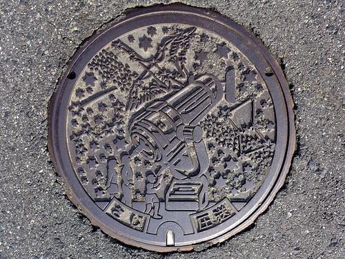 Saji Tottori, manhole cover (鳥取県佐治村のマンホール)