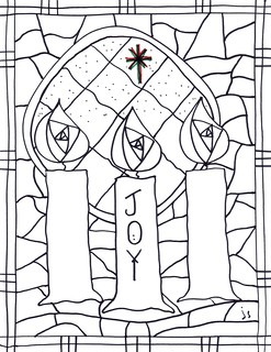 advent 3 advent 4 - Advent Coloring Pages