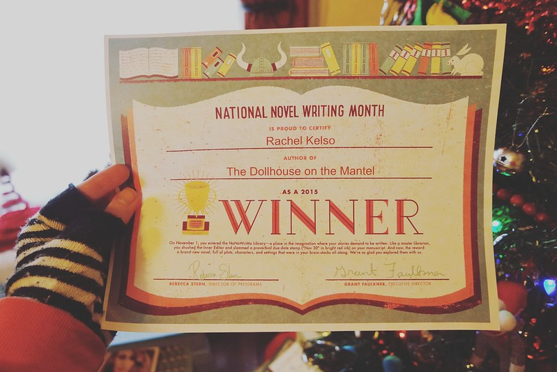 Day 64. I won #NaNoWriMo ! Before Thanksgiving, which is always my goal! #100HappyDays