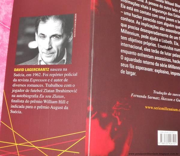 Resenha, livro, A garota na teia de aranha, David Lagercrantz, opinião, crítica, trechos, Millennium, Cia das Letras
