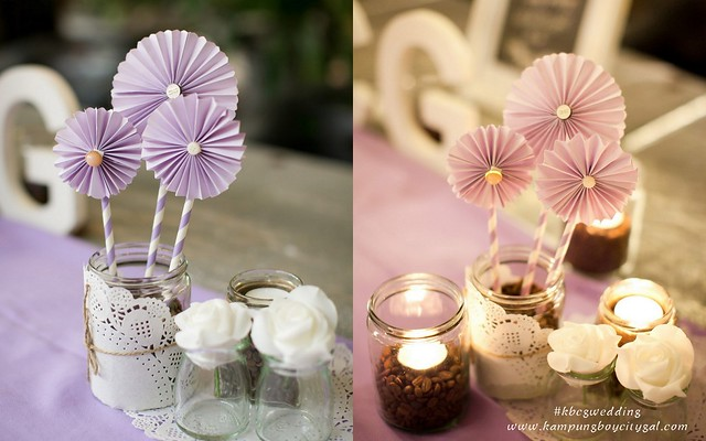Kbcgwedding rom actual day kampungboycitygal these diy wedding pinwheels are easy and adorable we use them in table settings decorations photo booth and backdrop centrepiece junglespirit Images