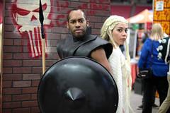 Grey Worm & Daenerys Targaryen cosplayers