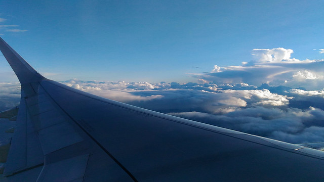 Plane window shot