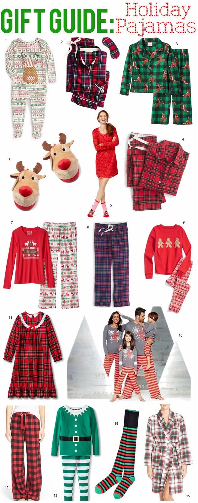 Gift Guide: Holiday Pajamas | Christmas Shopping
