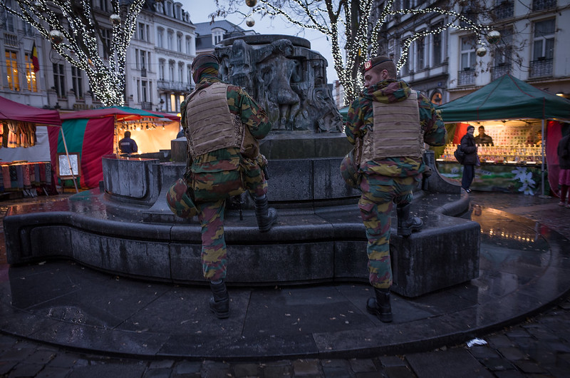 ISIS vs. Christmas. Brussels Lockdown, November 2015.