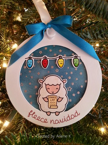 Fleece Navidad (partial diecutting)