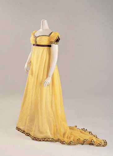 Yellow and Brown Ballgown