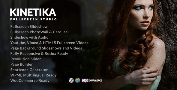 Kinetika v2.9.5 - Fullscreen Photography Theme