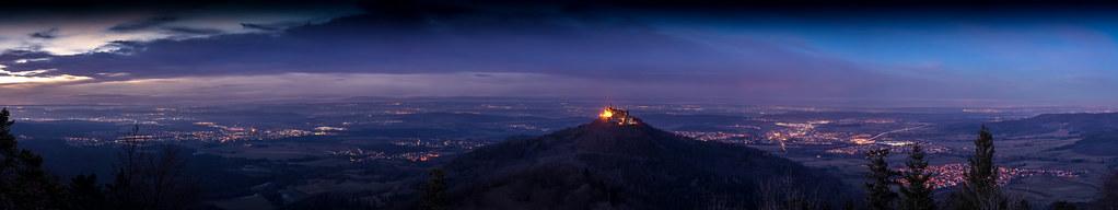 Burg Hohenzollern Panorama blue hour
