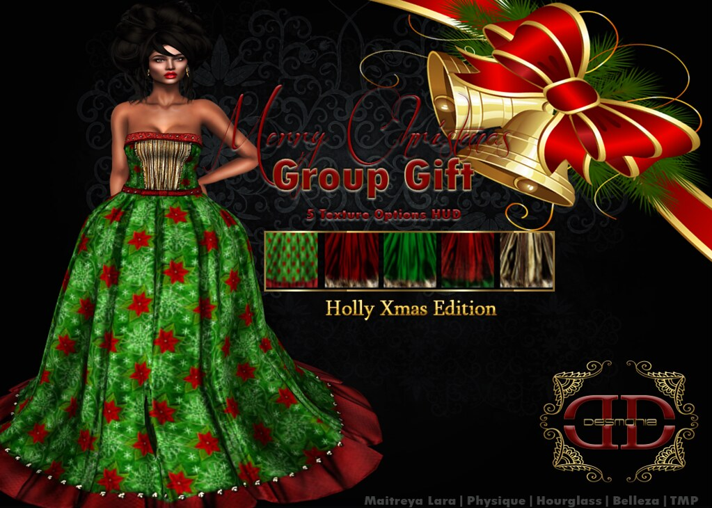 Holly Princess Gown Xmas Edition Group Gift - SecondLifeHub.com
