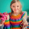 My #favoritethings I have made so far have to be Molly's 6th birthday #bloom, her matching #dollybloom and #sheepiebloom She had a #unicorn #rainbow theme that year and I made her the pink haired #waldorf doll and matching #knit dresses for them all. :hea