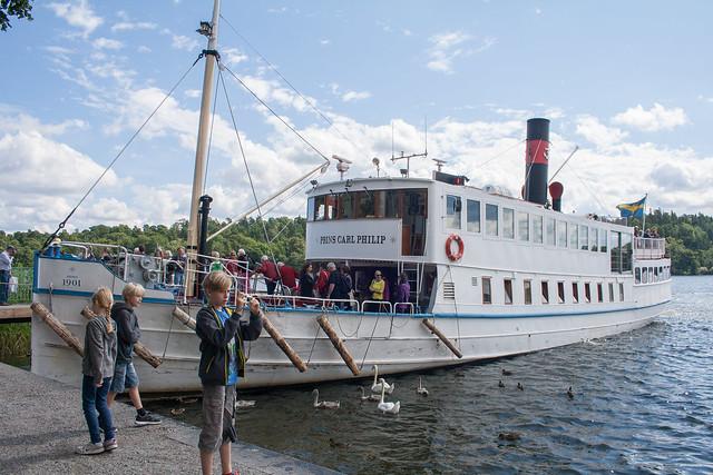 Boat to Drottningholm Palace