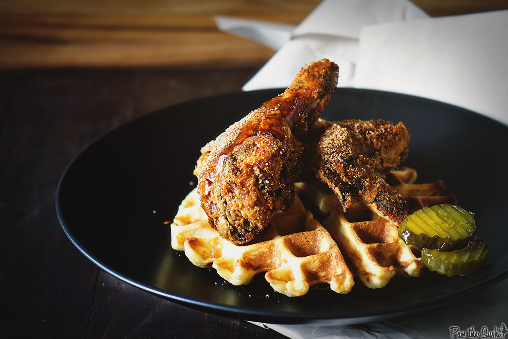 Brown Sugar Chicken and Waffles \\ GirlCarnivore.com
