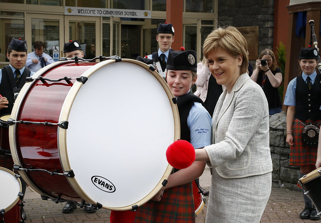 First Minister visits Oban High School