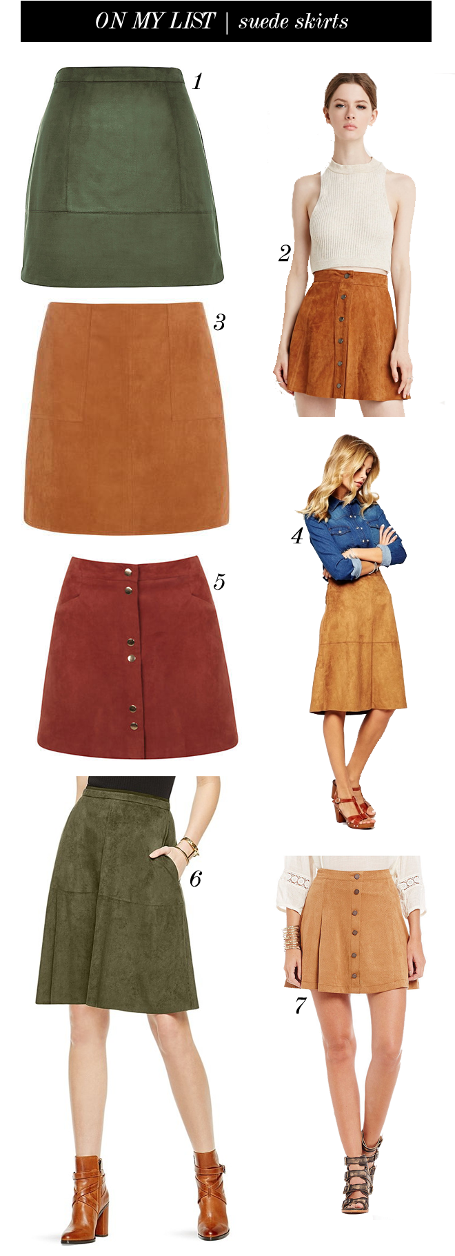 on my list suede skirts