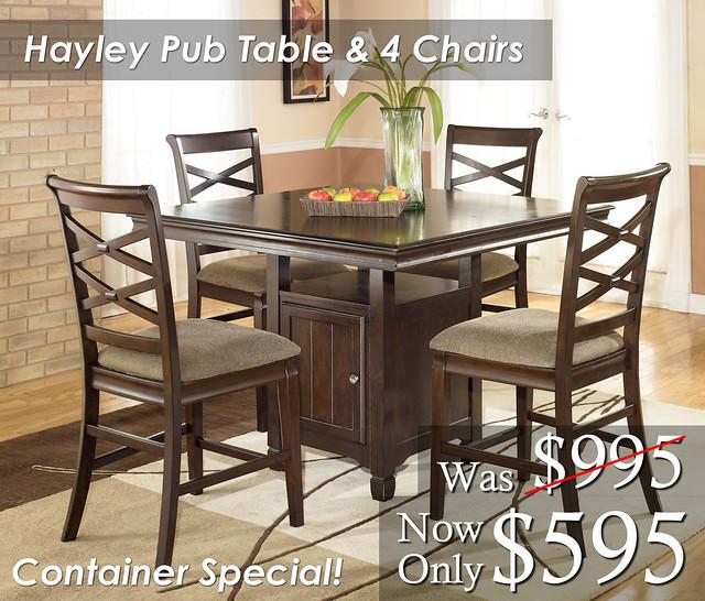 Hayley Dining Room Set: All American Mattress & Furniture
