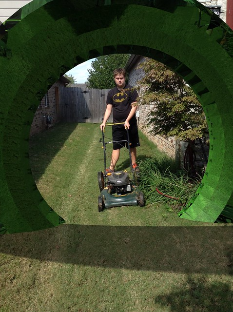Logan mowing and Matter App