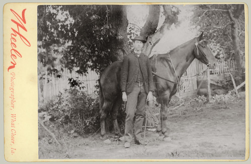 Cabinet Card Man with Horse