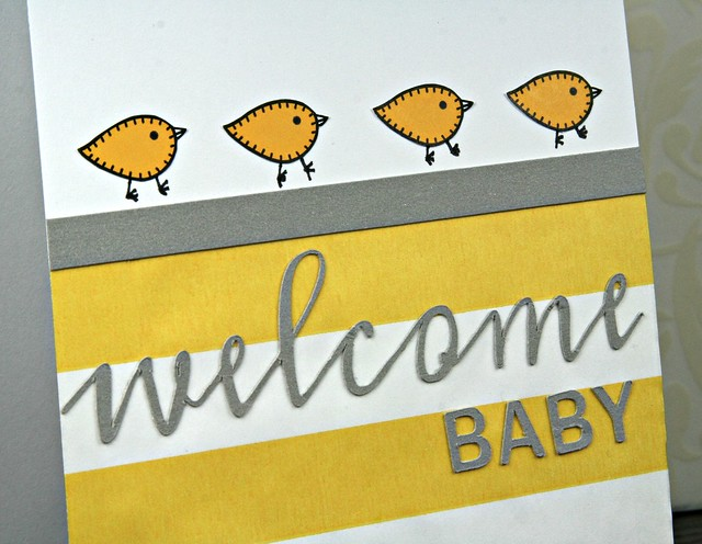 Welcome Baby Bitty Bag Card | shirley shirley bo birley