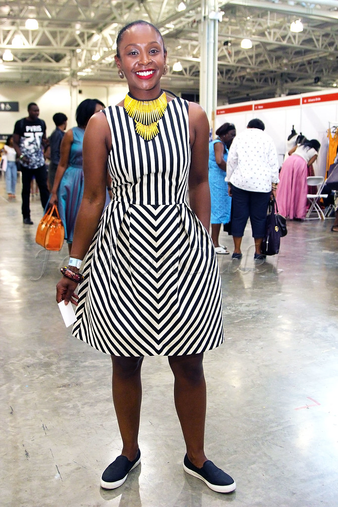 striped-skater-dress-with-slip-on-trainers,shoes, flat pumps, comfortable dress look, comfortable outfit, chic comfortable outfit, skater dress, mini dress, how to style statement necklaces, bangles, yellow necklace, stripe trend, striped trend, how to wear stripe trend, how to style stripe trend