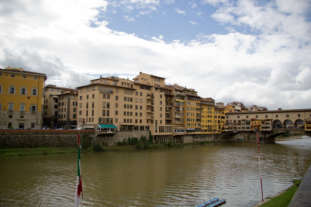 Along the Arno River in Florence