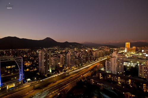 chile santiago sunset avenida view dusk avenue 日落 圣地亚哥 lascondes presidentkennedy 智利