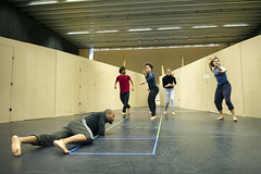 Members of the company in rehearsal for Macbeth. Photo by Richard Hubert Smith