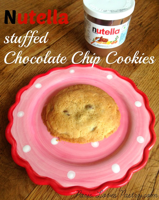 Nutella stuffed Chocolate Chip Cookies