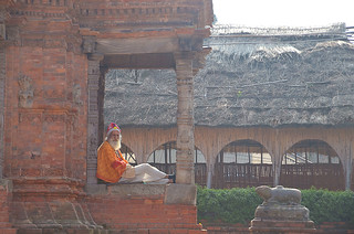 Local man in Durbar Square, Bhaktapur, Nepal.