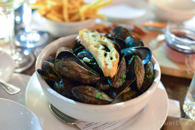 Moules Marinières p.e.i. mussels, celery, shallots, cream, french fries, aioli