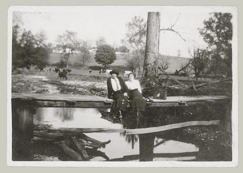 Sitting on the foot bridge