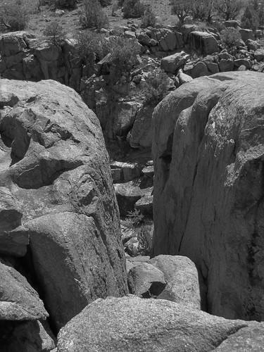 blackandwhite rural colorado stream canyon erosion highdesert granite geology potholes escalantecanyon escalantecreek