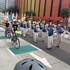 Marching band joins bike tour @ Planning Day 2015