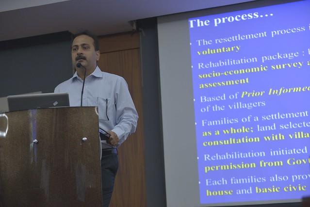 Mr. Sandeep Tiwari, WTI, presented a Case Study on securing Kalapahar – Daigurung Corridor, Kaziranga- Karbi Anglong Landscape.