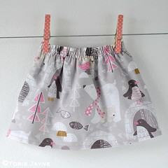 Shirred waist toddler skirt