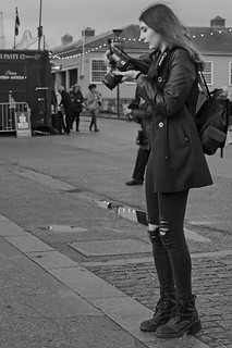 Tall and Thin Photographer