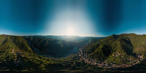 srebrenica republikasrpska bosniaandherzegovina ba bosnia drone dji phantom 3 pro air sky valley mountains view guber nature 360 panorama equirectangular