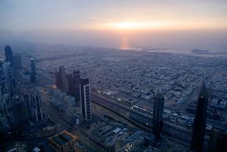 Image of Burj Khalifa. dubai unitedarabemirates ae sunset burjkhalifa sea