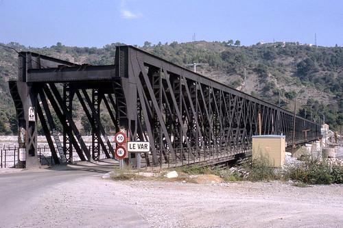 JHM-1966-afh-001 - Nice, France, ancien pont de la Manda de la ligne CP de Meyrargues